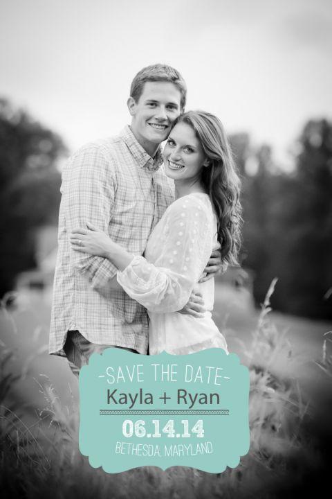 Kayla + Ryan Save the date
